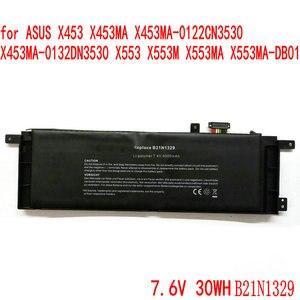 7.6V 30WH B21N1329 Laptop Battery For ASUS D553M F453 F453MA F553M P553 P553MA X453 X453MA X553 X553M X553B X553MA X403M X503M(China)
