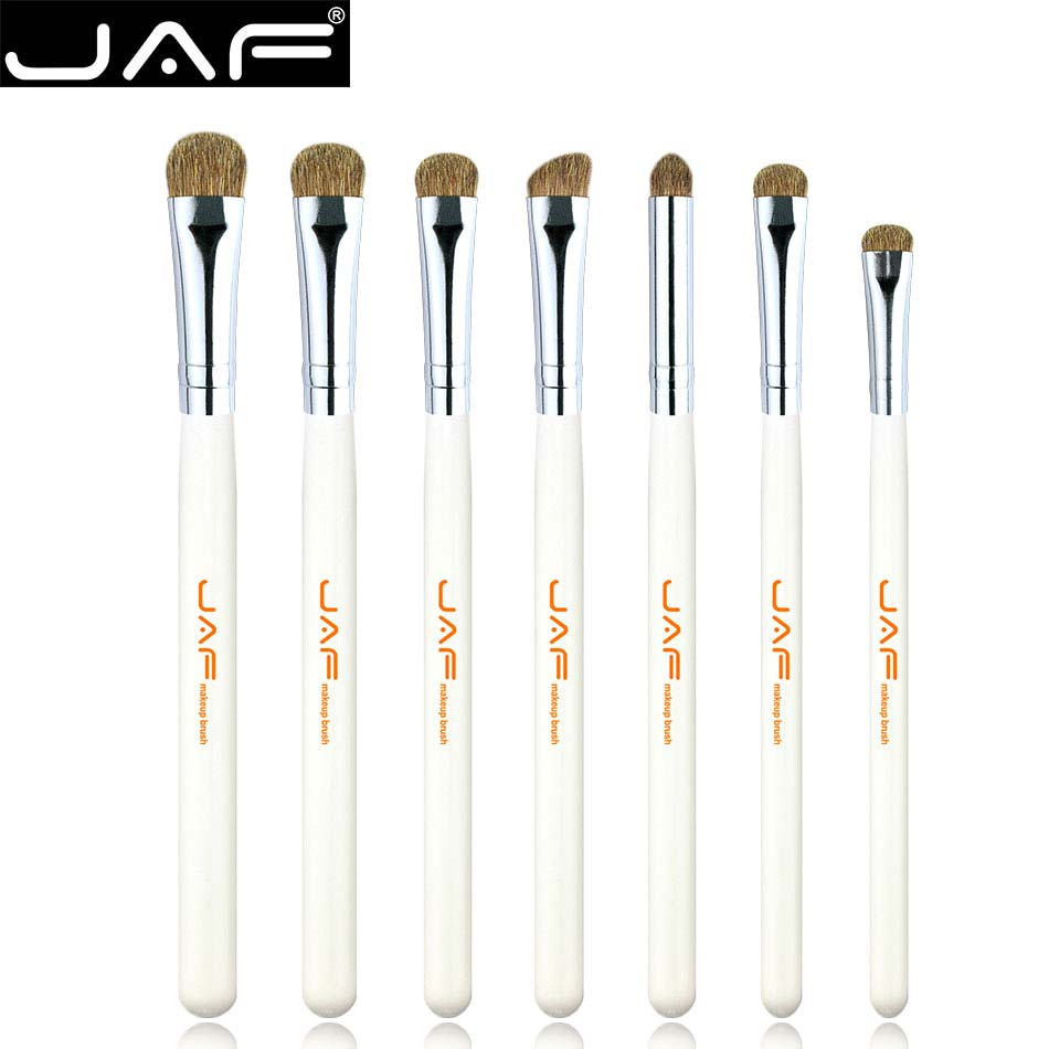 Retail JAF Brand 7PCS Makeup Brushes Professional Natural Hair Makeup Brush Set  Horse High Quality Make Up Brushes JE07PY-W