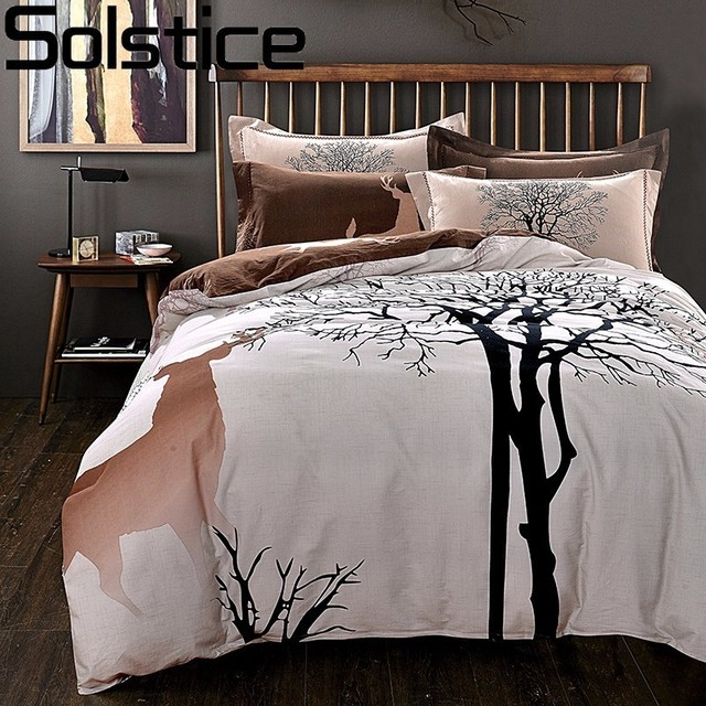 Ordinaire Solstice Simple Fashion Elk 100% Cotton Bedding Set Queen King Size Bed  Linen Bed Clothes