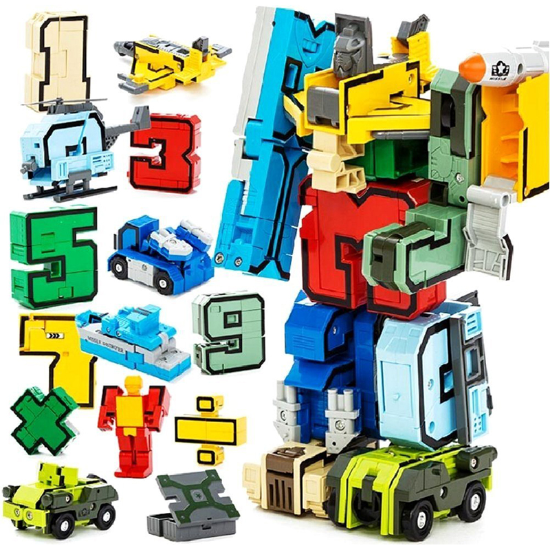 Christmas Gifts Magic Number Transformation Educational Toys Assembly Robot Action Figures Transformer Birthday New Year Gift hot sale 1000g dynamic amazing diy educational toys no mess indoor magic play sand children toys mars space sand