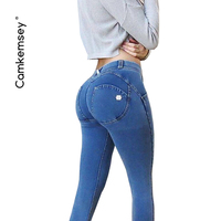 CamKemsey Sexy Push Up Bodycon Jeans Woman Jeggings 4 Color Plus Size 3XL Stretch High Waist Skinny Jeans Female Denim Trousers