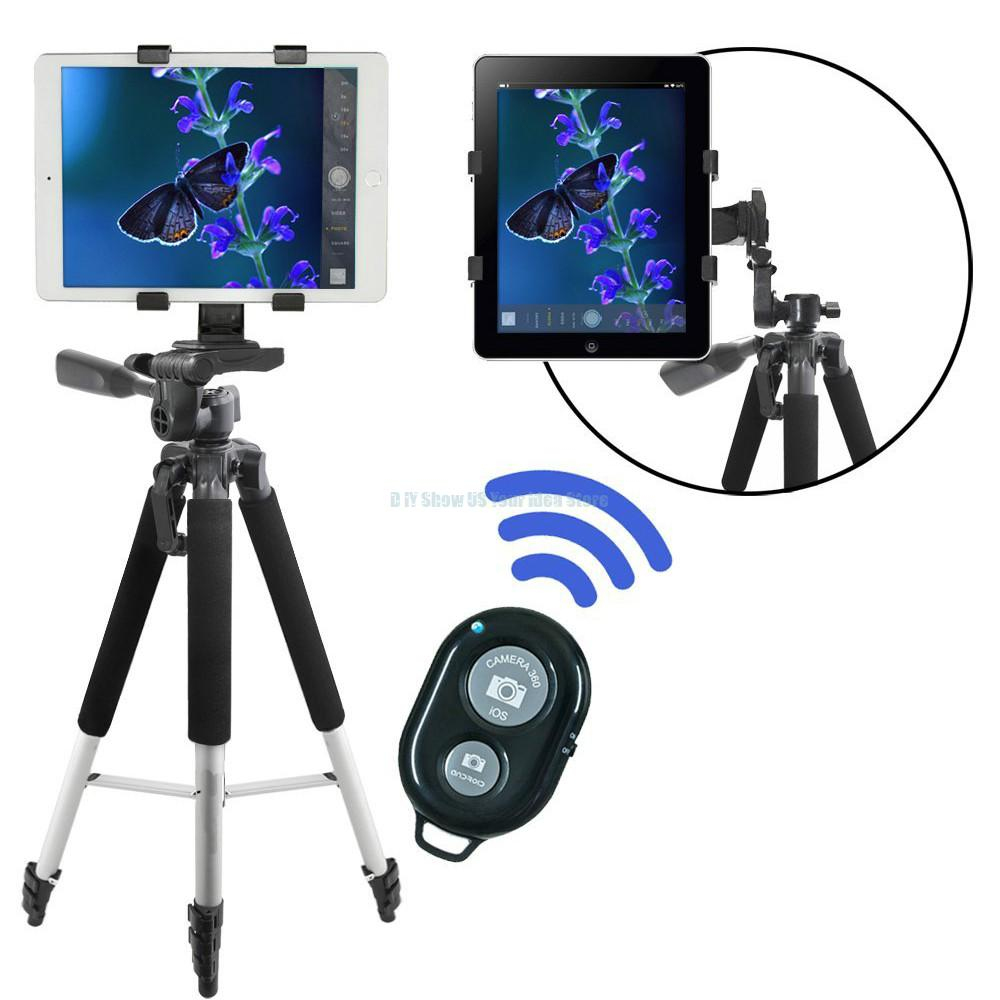 Camera Tripod Tablet Mount With Wireless Remote for Apple iPad Pro Air Mini i Phone 7