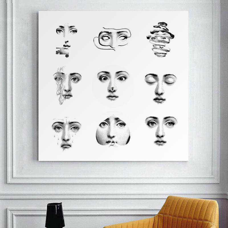 Aliexpress Buy Fornasetti Frameless Paintings Modern Retro Gifts Wall Art Quotes Bedroom Decor For Living Room From Reliable