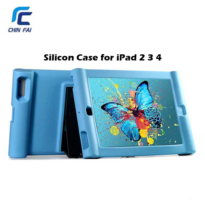 ZH 4270 Shockproof Silicone Cover For IPad 2 3 4 9 7 Inch Tablet Silicone Case