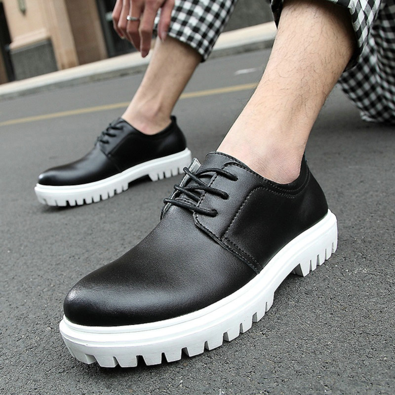 2014 Fashion Classic genuine leather creepers platform