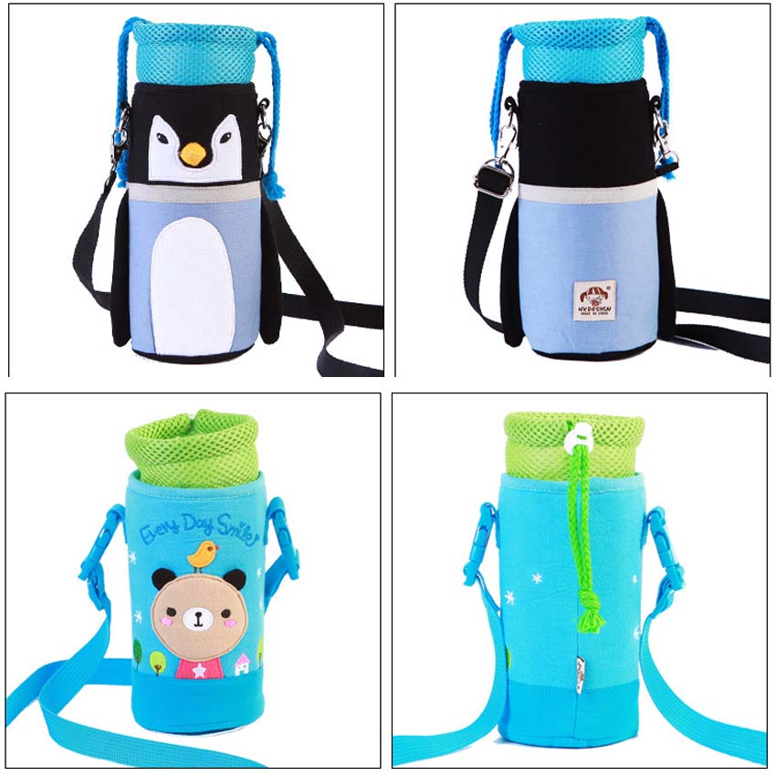 Baby Kids Insulation Bottle Bags Water Storage Messenger Bag Thermos Straw Cup Packages Feeder Warmer Cover Baby Bottle Huggers