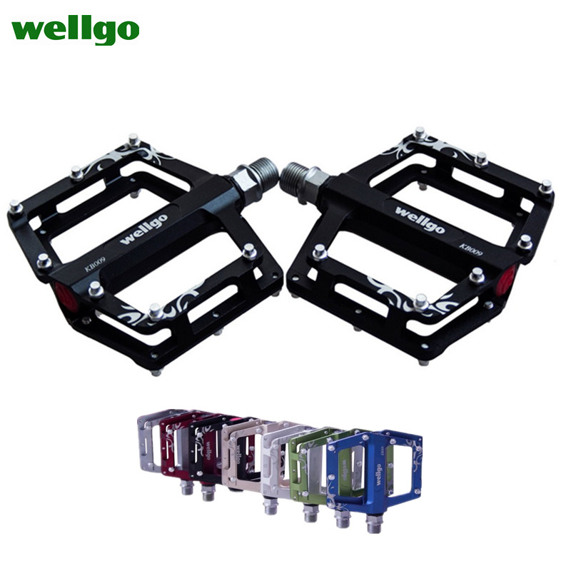 Original Wellgo Ultralight Aluminum Alloy Pedals Kb009 Bmx Mountain Bicycle Cycling Bike Pedal Bicicleta Mtb Parts Time-limited цена