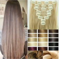 "Clearance Sale Lady Women 23"" Mix Colors 8Pcs 18 Clips In Full Head Hair Extensions Free Shipping Professional FACTORY PRICE"