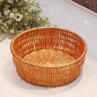 Free shipping,diameter-30cm,Rattan fruit plate ruled candy box bread basket wholesale wedding custom packaging,home decorative