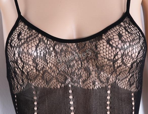 5ba85296c 2017 New Hot Sexy Lingerie Mesh Pakaian Bodysuit Godaan Jala Stoking ...
