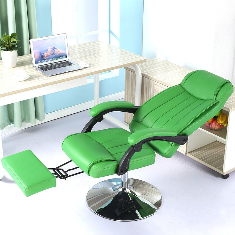 High quality lazy leisure chair household reclining office computer chair beauty chair can lift rotate chair 240311 high quality pu leather computer chair stereo thicker cushion household office chair steel handrails