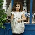 Vestido de Niña de invierno 2016 Marca Princesa Niños Vestidos para Niñas Ropa fajas Princesa Vestido Del Bebé