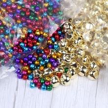 10 мм 100 шт колокольчики железные Золотые Серебряные Колокольчики маленькие Праздничные рождественские украшения аксессуары тембр campanellini