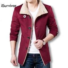 Hot Sale 2017 Men Long Wool Coat Winter Men Jackets And Coats Slim Fit Men Windbreaker High Quality Trench Coat Plus Size 4XL