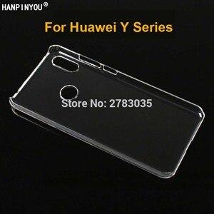 Глянцевый чехол для телефона Huawei Y3 Y5 Lite Y6 Y7 Pro Prime Y9 2017 2018 2019, жесткий прозрачный защитный чехол из поликарбоната для задней панели