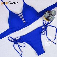Push Up Bra Bandage Thong Bottom Brazilian Swimwear