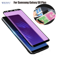 WEIYU 3D Full Cover Shock Resistance Soft Anti Blue Light UV Screen Protector For Samsung Galaxy