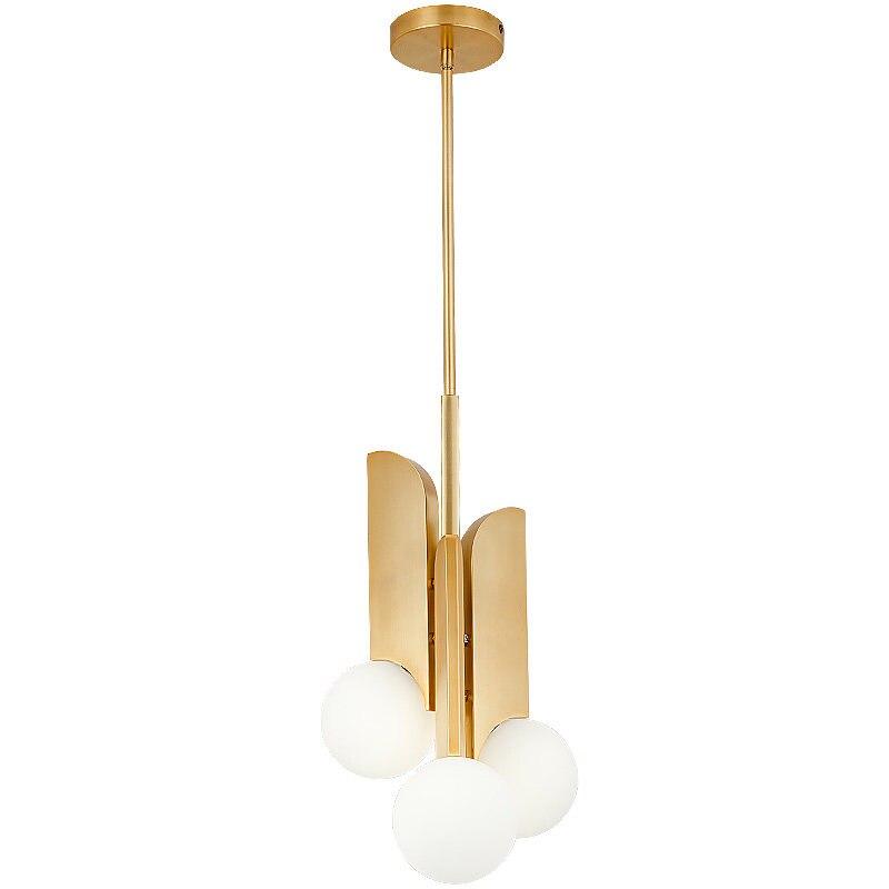 Nordic Post modern pendant lights foyer Restaurant milk white glass shade gold lamp body droplight E27 BULBS lighting fixture