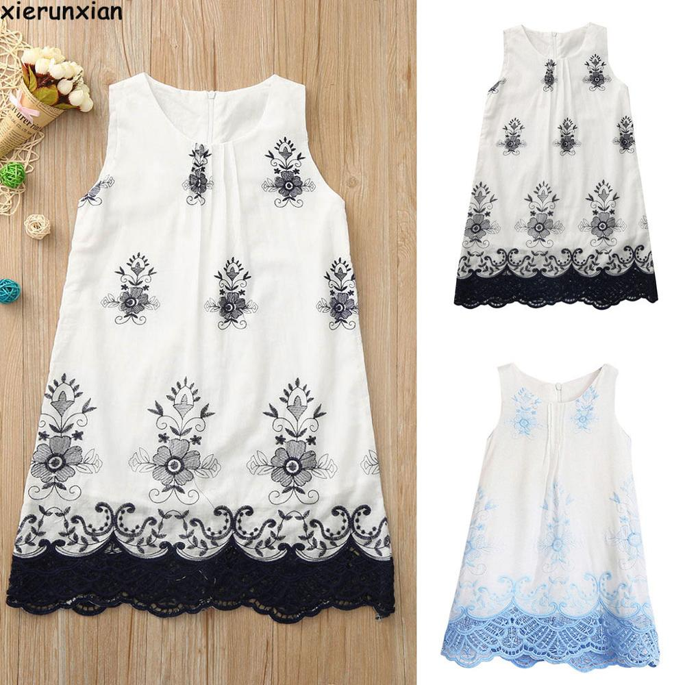 Lace   Flower     Girls     Dress   Elegant Cute 2019 Summer kids   dresses   for   girls   Sleeveless Light Blue Princess   Dress   Wedding   Dress