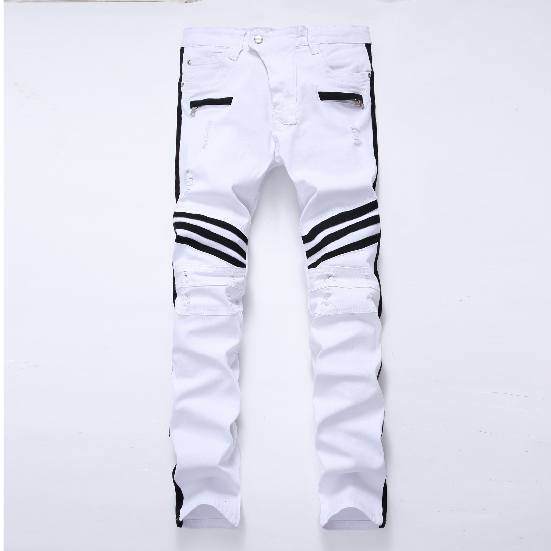 Popular White Jeans Mens-Buy Cheap White Jeans Mens lots from ...