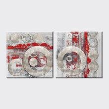 2 imágenes abstractas baratas de la pared del Envío Gratis para living Flor de habitación Vintage decoración del hogar imágenes artísticas en impresiones de lona