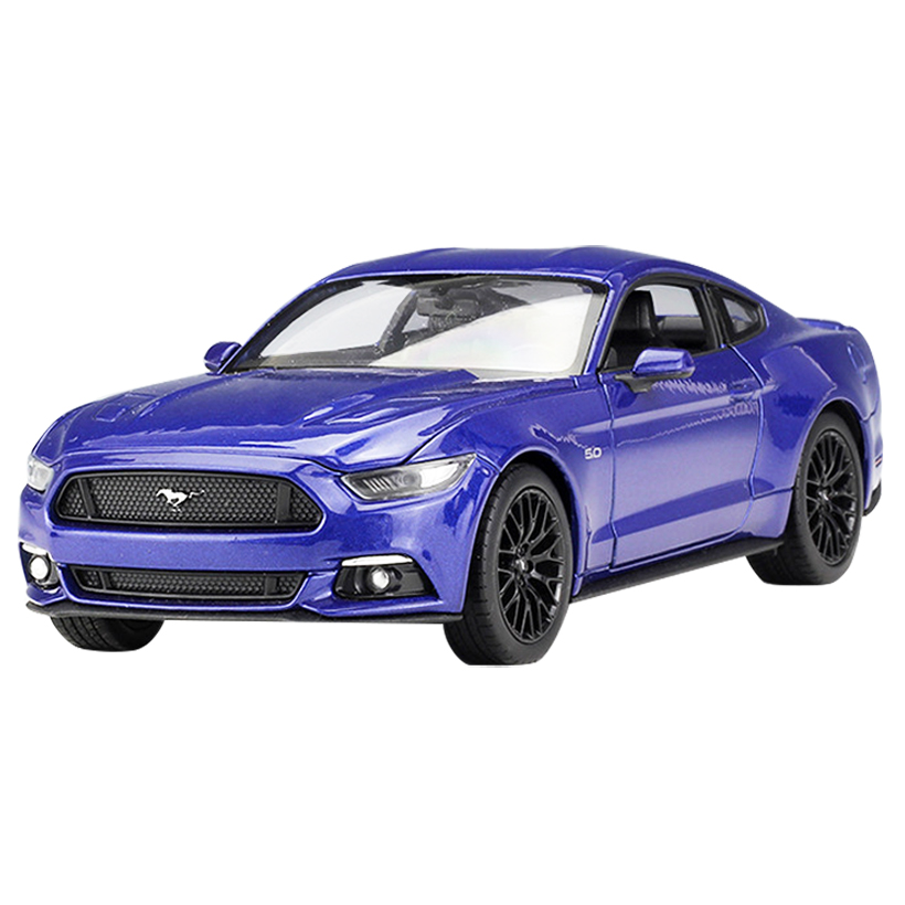 W <font><b>1:24</b></font> <font><b>Ford</b></font> <font><b>Mustang</b></font> GT Toy Vehicles Alloy Automobile Model Toy Car Simulation Pull Back Children Toys Collection Gift Kids image