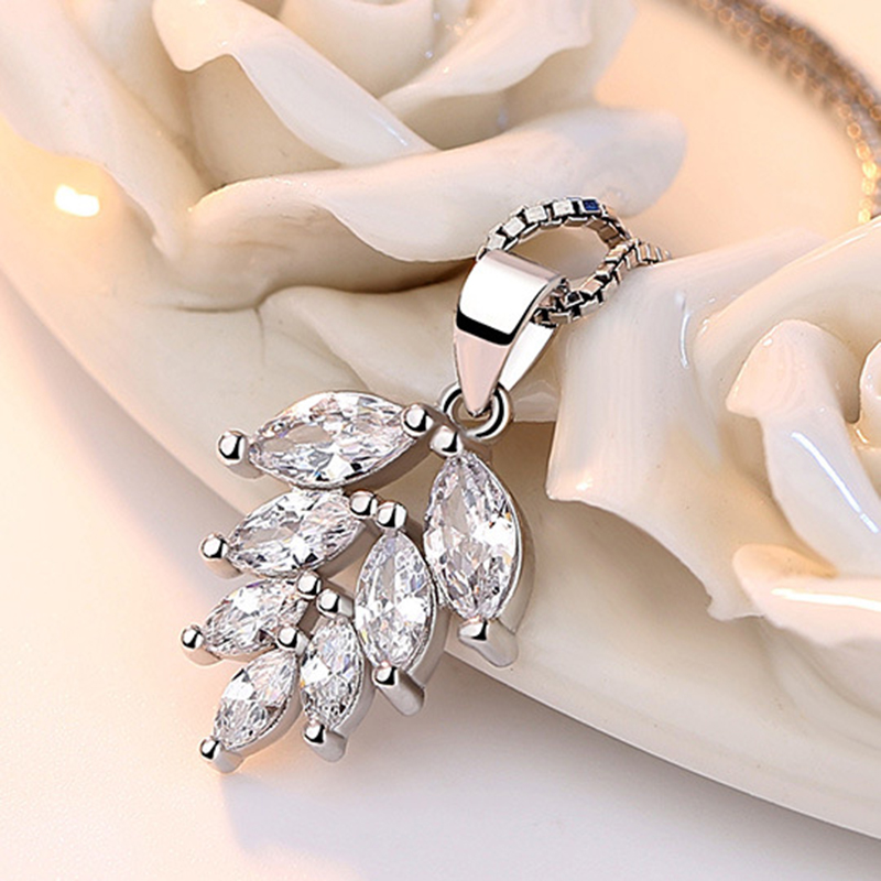 silver zircon pendants necklaces (6)