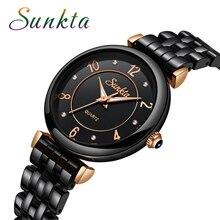 SUNKTA Fashion Simple Quartz Women Watches Waterproof Luminous Pointer Dress Top Brand Luxury Watch Zegarek Damski