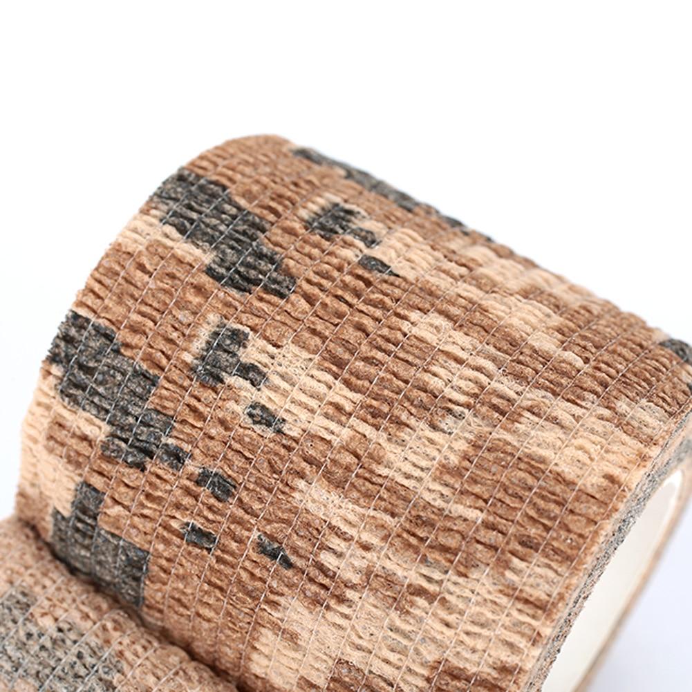 Клейкая ткань для охоты на природе самоклеящаяся Нетканая 4,5 м фонарик обертывание Камуфляжная Лента винтовка лента тянущаяся повязка военная лента