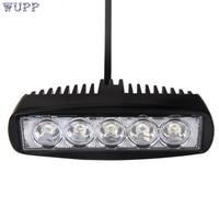 Auto 15 W Spotlight LED Luz de Trabajo Bar Lámpara de Conducción de Niebla Campo A Través SUV 4WD Coche Del Carro Del Barco jan13