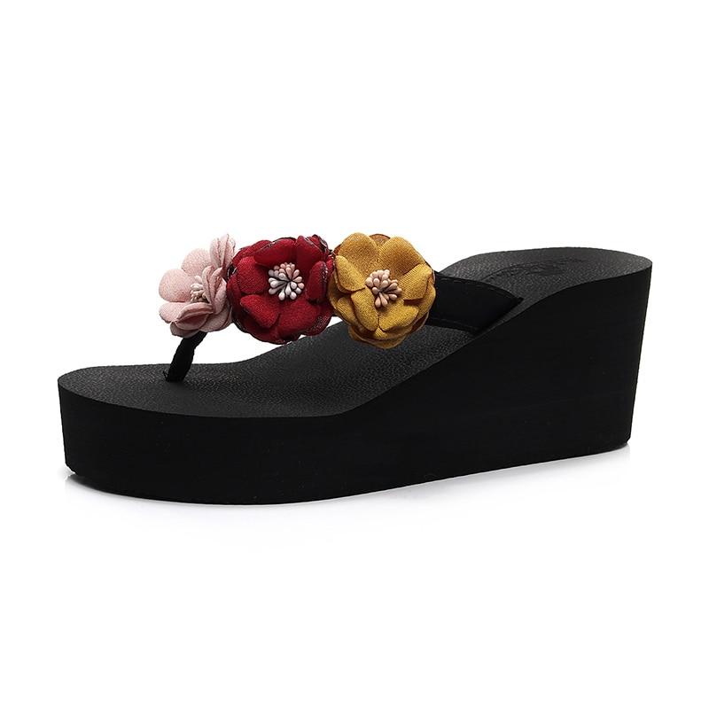 Strap Forme Perles Plage Chaussures 6 Flop De Non Hauts 3 b7gyvYf6