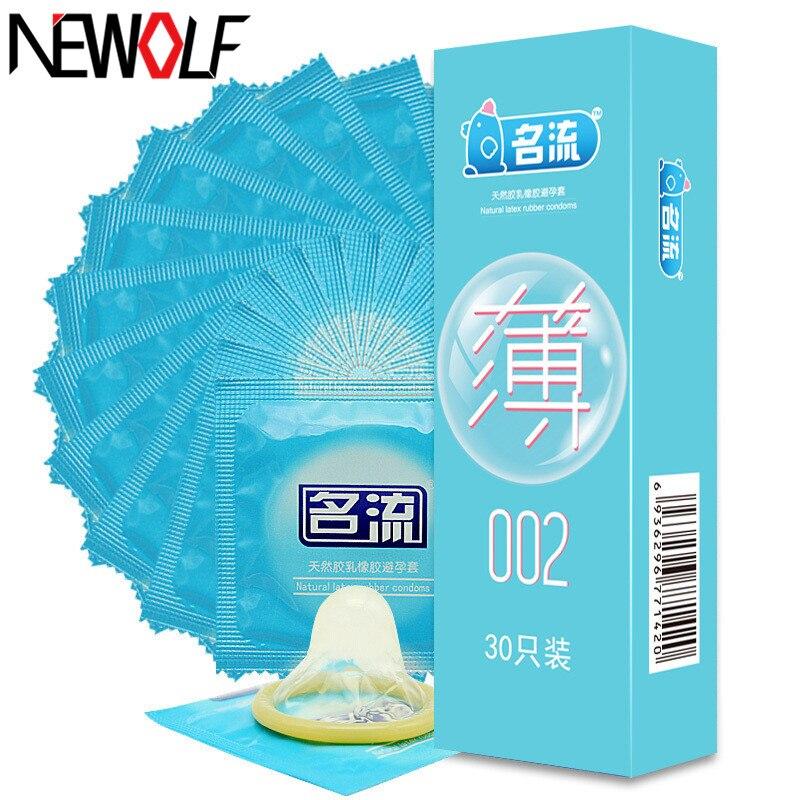Buy New 30pcs Adult Sex Products Condom Ultra Thin Natural Latex Condoms Men Sex Toys Sex Tool Safe Contraception Condoms PY742