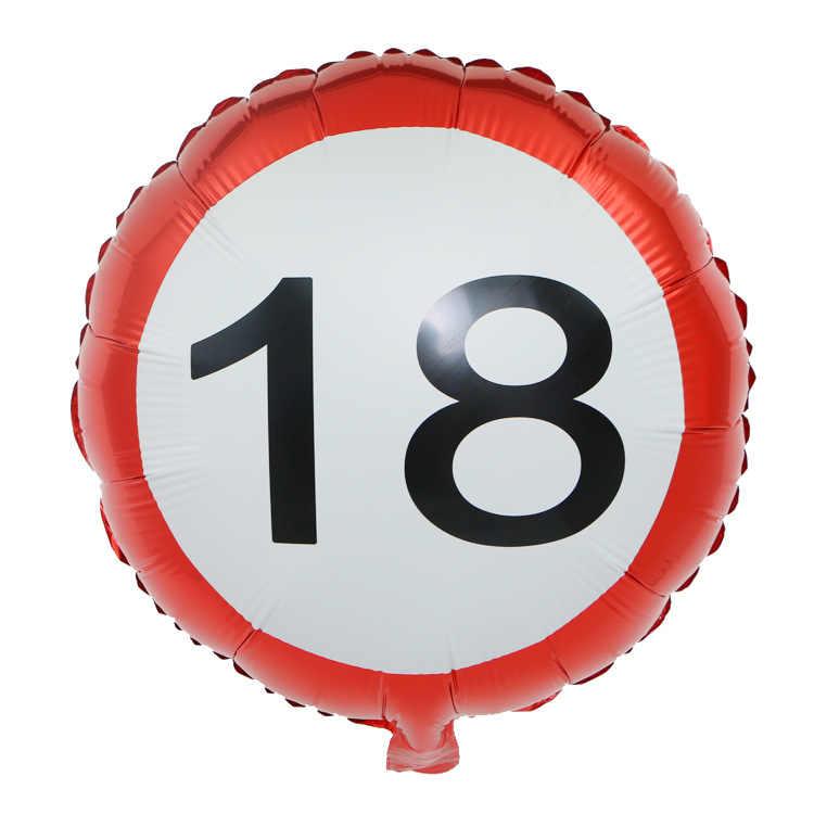 รูปบอลลูนฟอยล์ 18 นิ้ว 18 15 30 40 50 ปี Helium Ballon จำนวน Happy Birthday Ball Air Baloons Party ตกแต่ง Globos