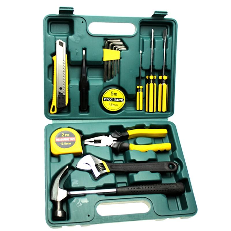 ZEEPIN 16pcs Car Repair Tool Kits Screwdriver Combination Household Set Hardware Tool Box Safety Diagnostic Tool