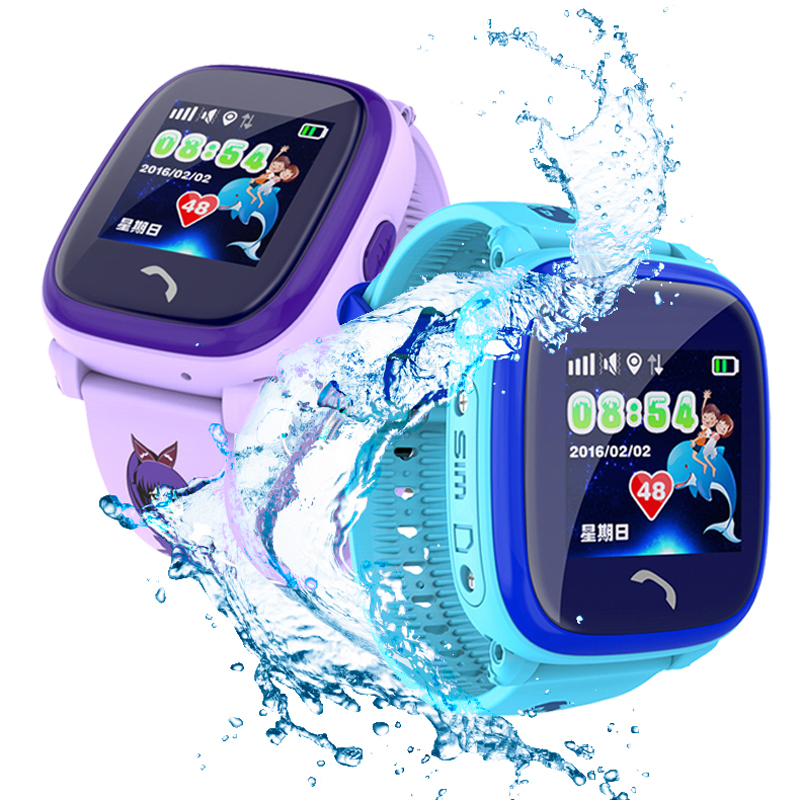 Child Smart watch Swim waterproof Cute Touch Color Screen SOS Call GPS LBS positioning Tracker Kids Anti-Lost Clock DF25 VS DS18 wireless service call bell system popular in restaurant ce passed 433 92mhz full equipment watch pager 1 watch 7 call button