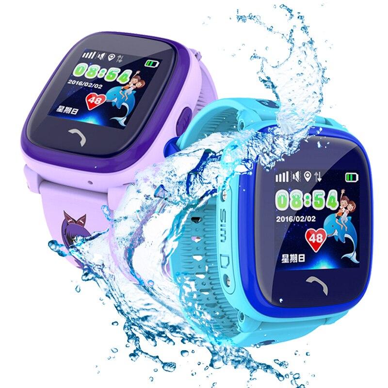 Child Smart watch Swim waterproof Cute Touch Color Screen SOS Call GPS LBS positioning Tracker Kids Anti-Lost Clock DF25 VS DS18 smart baby watch q60s детские часы с gps голубые