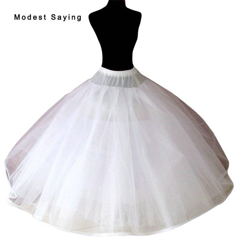 5f959b30 Cheap Marfil 8 capas sin aros enaguas para vestido de baile vestidos de  novia 2018 vestidos