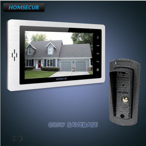 HOMSECUR 1V1 7 Hands-free Video Door Entry Phone Call System+Touch Button MonitorHOMSECUR 1V1 7 Hands-free Video Door Entry Phone Call System+Touch Button Monitor