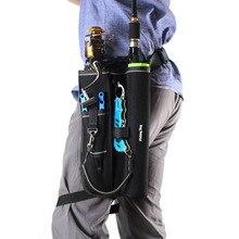 แบบพกพาOxfordเอวปรับเข็มขัดตกปลาRodผู้ถือProfessional Fishing POLE CarrierกรณีTackleเกียร์เครื่องมือเก็บกระเป๋า