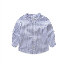 Brand  Hot Sale Children Boys Shirts Cotton Solid Kids Shirts Clothing For 6M-12 Years Wear YF11