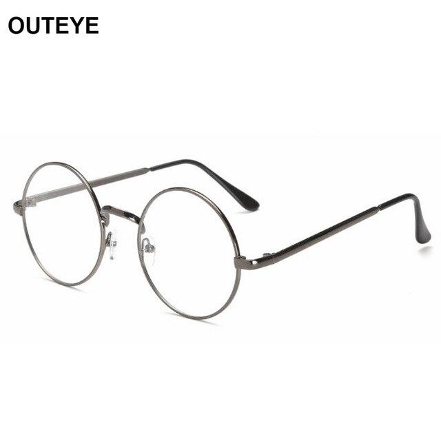 6476ef5dc43 Fashion Men Women Vintage Retro Round Frame Clear Lens Eyeglasses Unisex  Glasses Clear Lens Glasses Nerd Spectacles Sunglasses