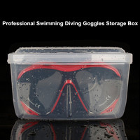 COPOZZ Transparent Swimming Diving Goggles Storage Box PP Swim Glasses Diving Mask Storage Case Thicken Water