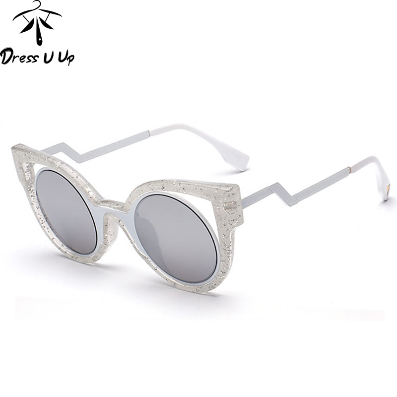 0bee5fd2d5dc5e DRESSUUP Top Mode Triangle Vintage lunettes de Soleil Femmes Marque  Designer Cat Eye Lunettes de Soleil Femmes Oculos De Sol Feminino Gafas
