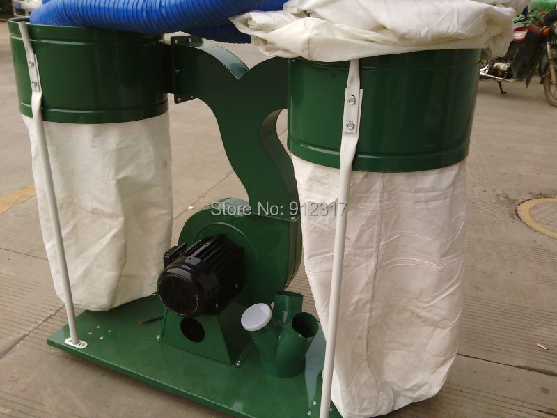 2.2kw Duoble Bags Wood Dust Collector AC380V 3phase for wood cnc router high quality cyclone filter dust collector wood working for vacuums dust extractor separator cnc machine construction