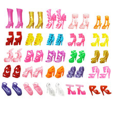 Original Barbie Mix 20pcs-40pcs doll house Sandals For Decor Doll Toy Girls Dolls Accessories Play House Party Girls Gift