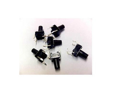 10Pcs Tactile Push Button Switch Tact Switch 6X6X9mm 4-pin DIP