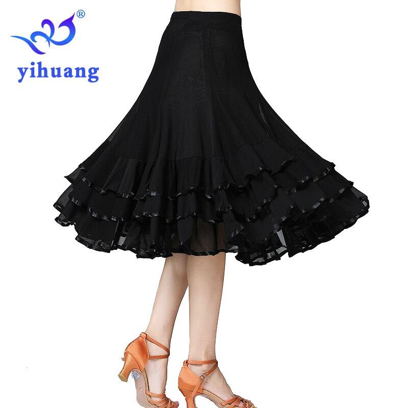 Women Ballroom Dance Skirt Performance For Tango Waltz Modern Standard Foxtrot Quickstep Dance Skirt Competition Party Dance