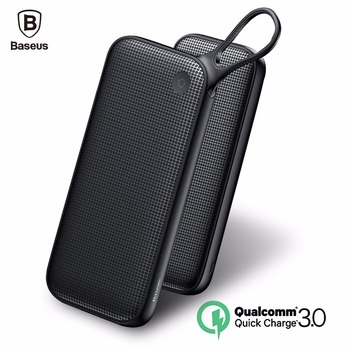 Baseus Quick Charge 3.0 Power Bank 20000mAh 3 Outputs Powerbank Dual QC3.0  External Battery Charger For Mobile Phones Poverbank