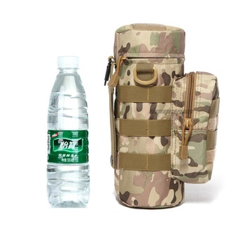 Outdoor Sports Water Bottle Bag Tactical Military Molle System Water Bottle Pouch Portable Kettle Holder outdoor elliptical aluminum sports military fans with creative water cups flat pot portable kettle