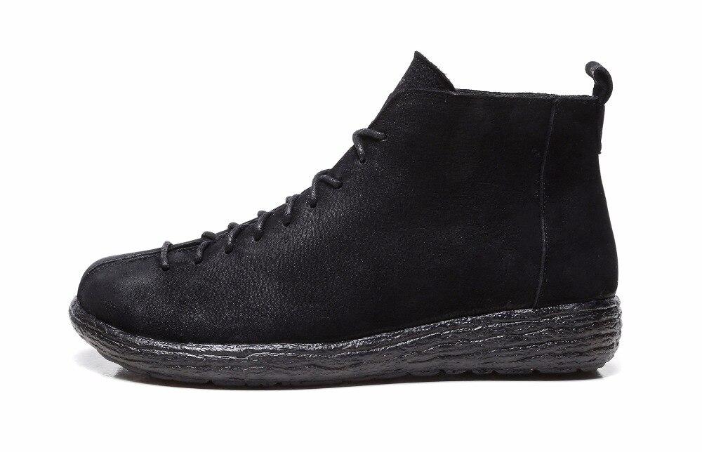 Gktinoo Schuhe Ankle Stiefel Vintage Leder Booties Stil Weiche Up Schwarzes 100 Echtem Lace Frauen Rindsleder Flache Neue Weibliche brown 7xqXwZY7r